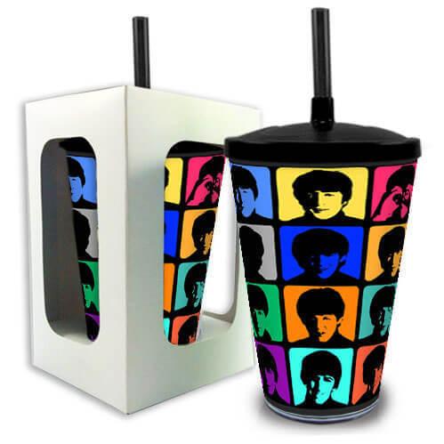 Copo com Canudo The Beatles