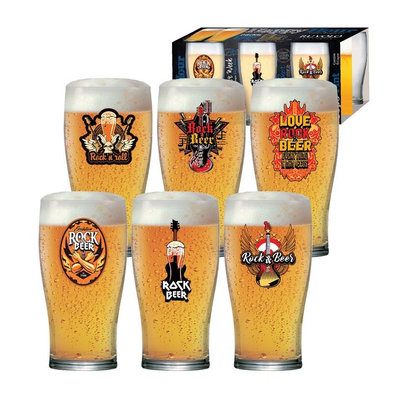 Copo de cerveja  Pint Rock Collection - 06 peças