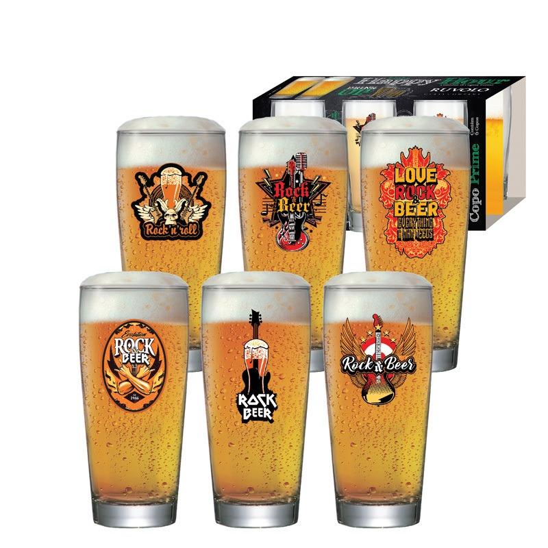 Copo de cerveja Rock Collection Prime - 06 peças