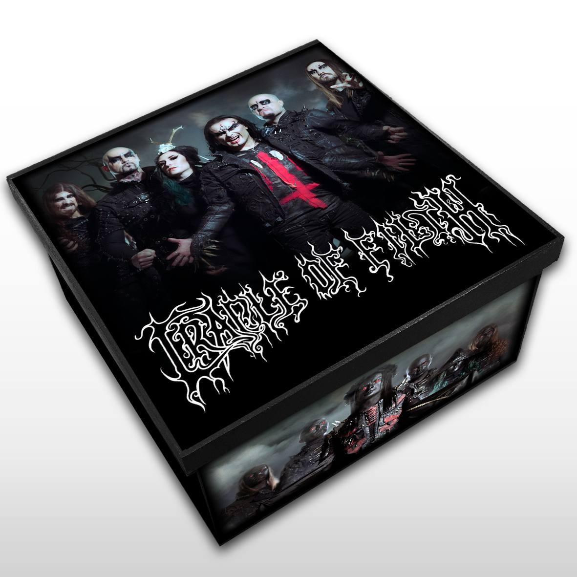 Cradle Of Filth - Caixa Organizadora em Madeira MDF - Tamanho Médio - Mr. Rock