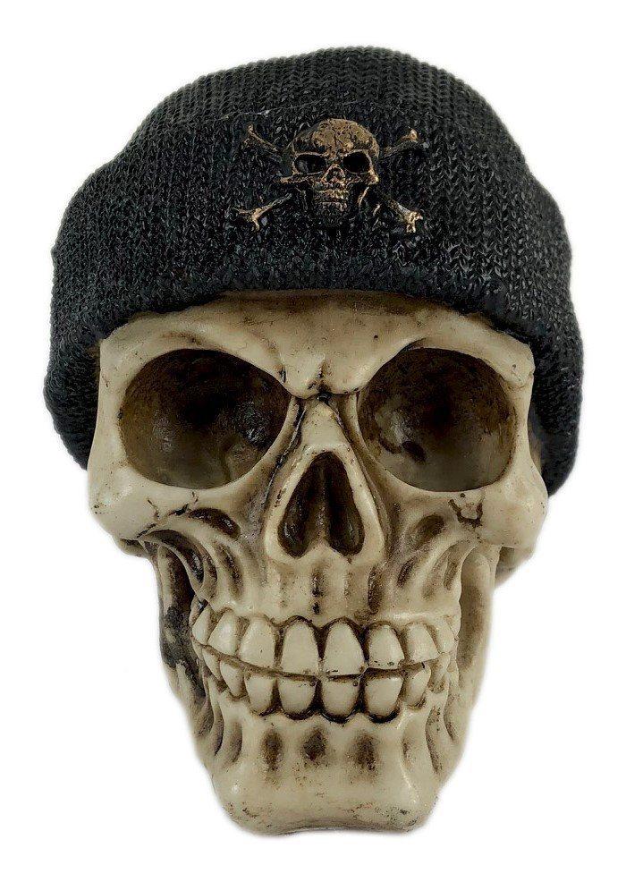 Crânio Caveira Skull Touca Gorro Decorativo Resina