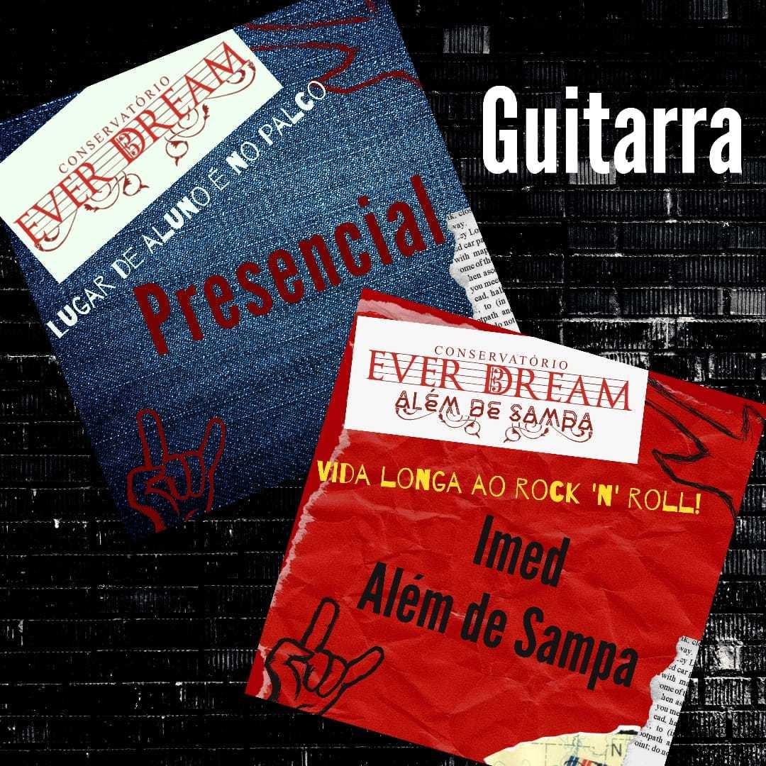 Curso de Guitarra - Presencial ou On-line com duração 6 meses - Conservatório Ever Dream