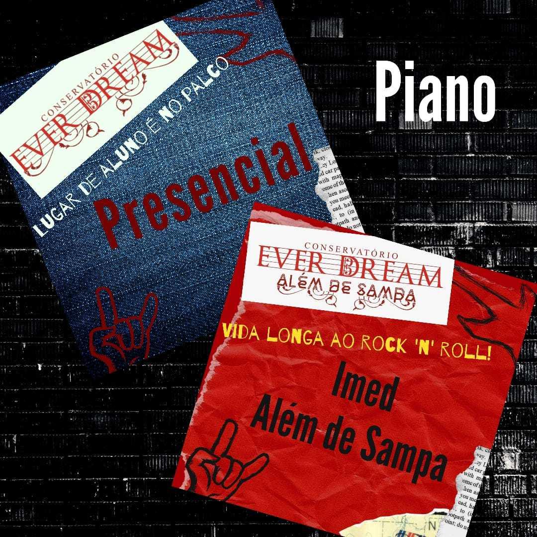 Curso de Piano - Presencial ou On-line  com duração 6 meses - Conservatório Ever Dream