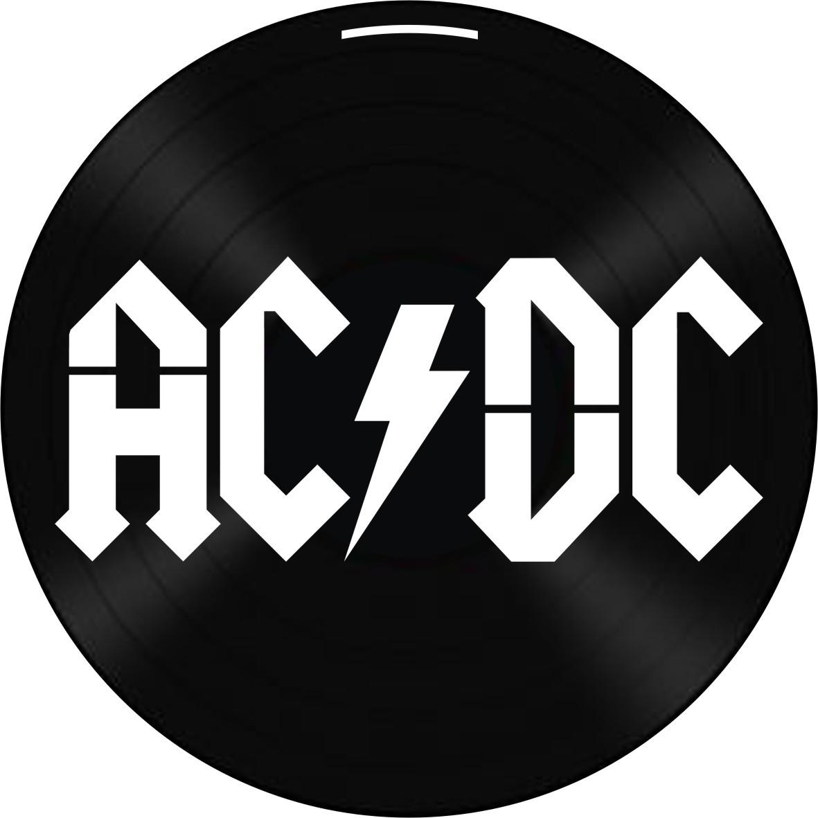 Disco de Vinil Decorativo AC/DC