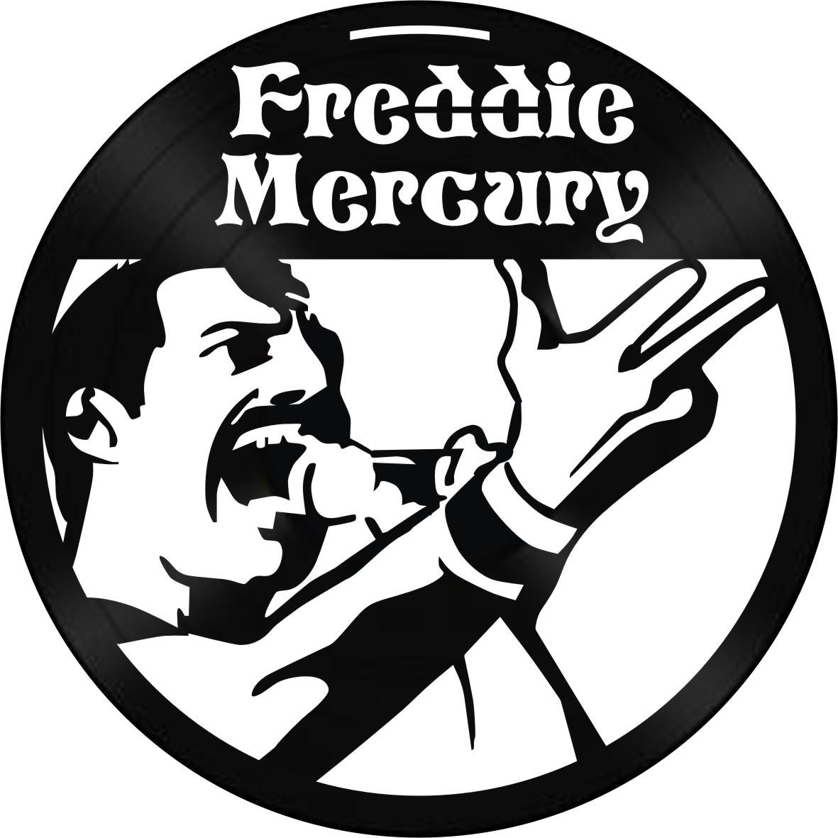 Disco de Vinil Decorativo Freddie Mercury
