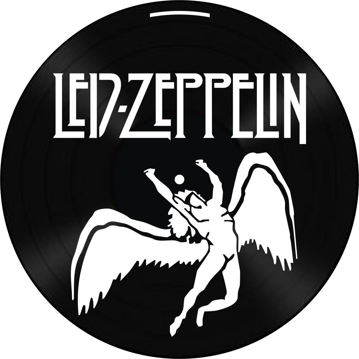 Disco de Vinil Decorativo Led Zeppelin