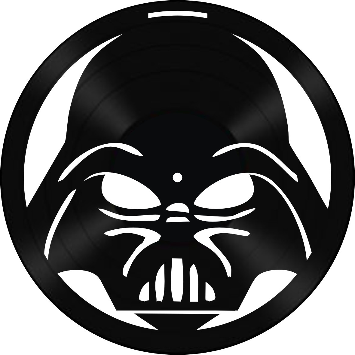 Disco de Vinil Decorativo Darth Vader
