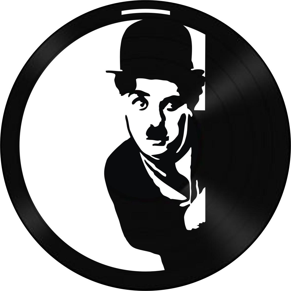 Disco de Vinil Decorativo Charlie Chaplin