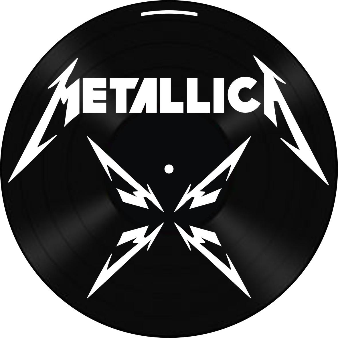 Disco de Vinil Decorativo Metallica