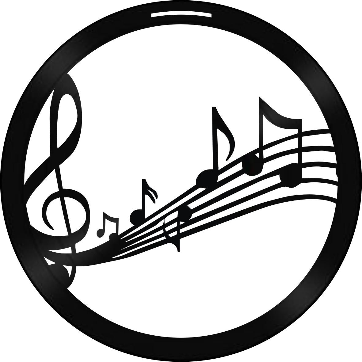 Disco de Vinil Decorativo Clave de Sol e Notas Musicais