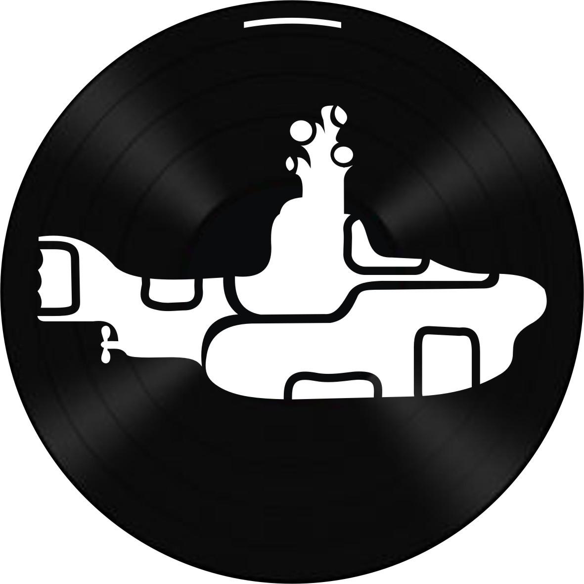 Disco de Vinil Decorativo The Beatles Yellow Submarine
