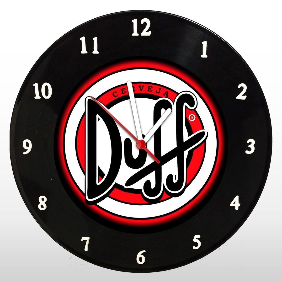 Duff - The Simpsons - Relógio de Parede em Disco de Vinil - Mr. Rock