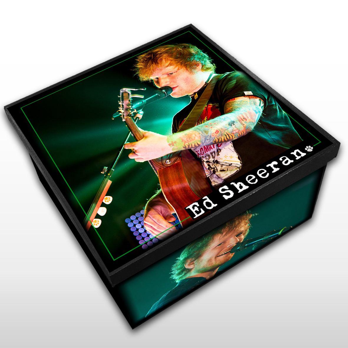 Ed Sheeran - Caixa em Madeira MDF - Tamanho Médio - Mr. Rock