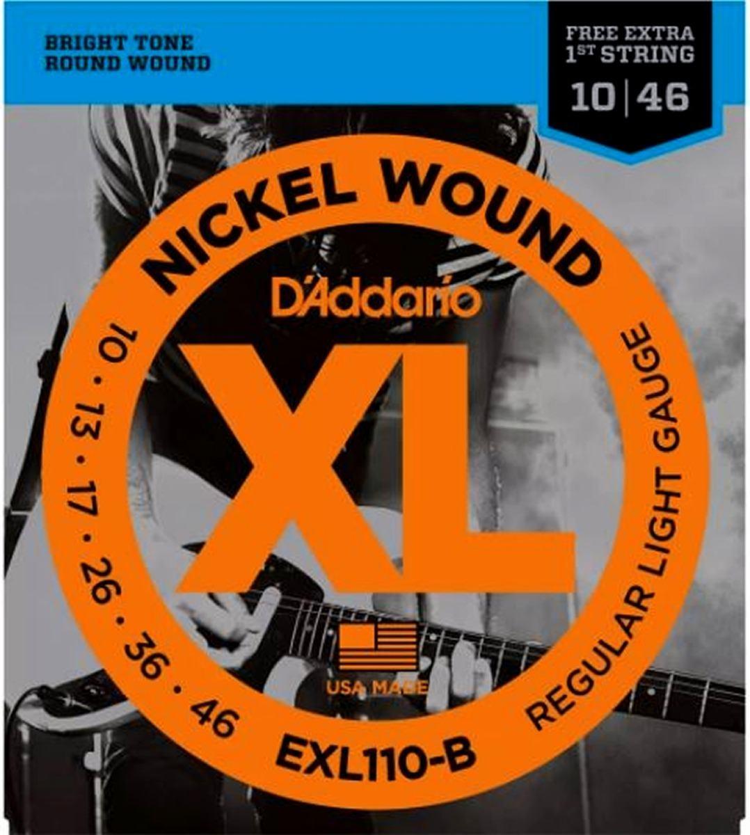 Cordas para Guitarra Encordoamento D'ADDARIO EXL110-B 0.010-0.046