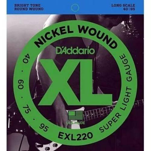 Encordoamento D'ADDARIO EXL220 0.40-0.95 Para Baixo 4 Cordas