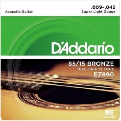 Cordas para Violão de Aço Encordoamento D'ADDARIO EZ890-B 0.09-0.045