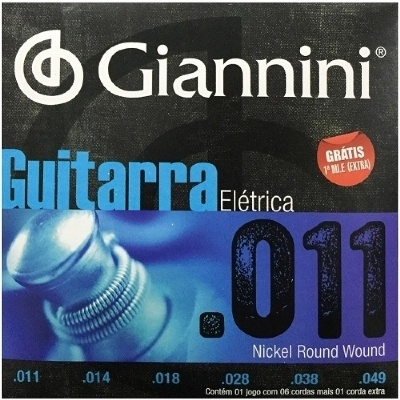 Encordoamento GIANNINI 0.011-0.049 Para Guitarra
