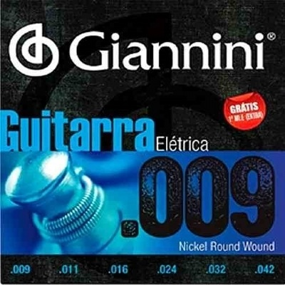 Encordoamento GIANNINI 0.09-0.042 Para Guitarra