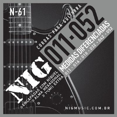 Encordoamento NIG N-61 011-0.52 Para Guitarra