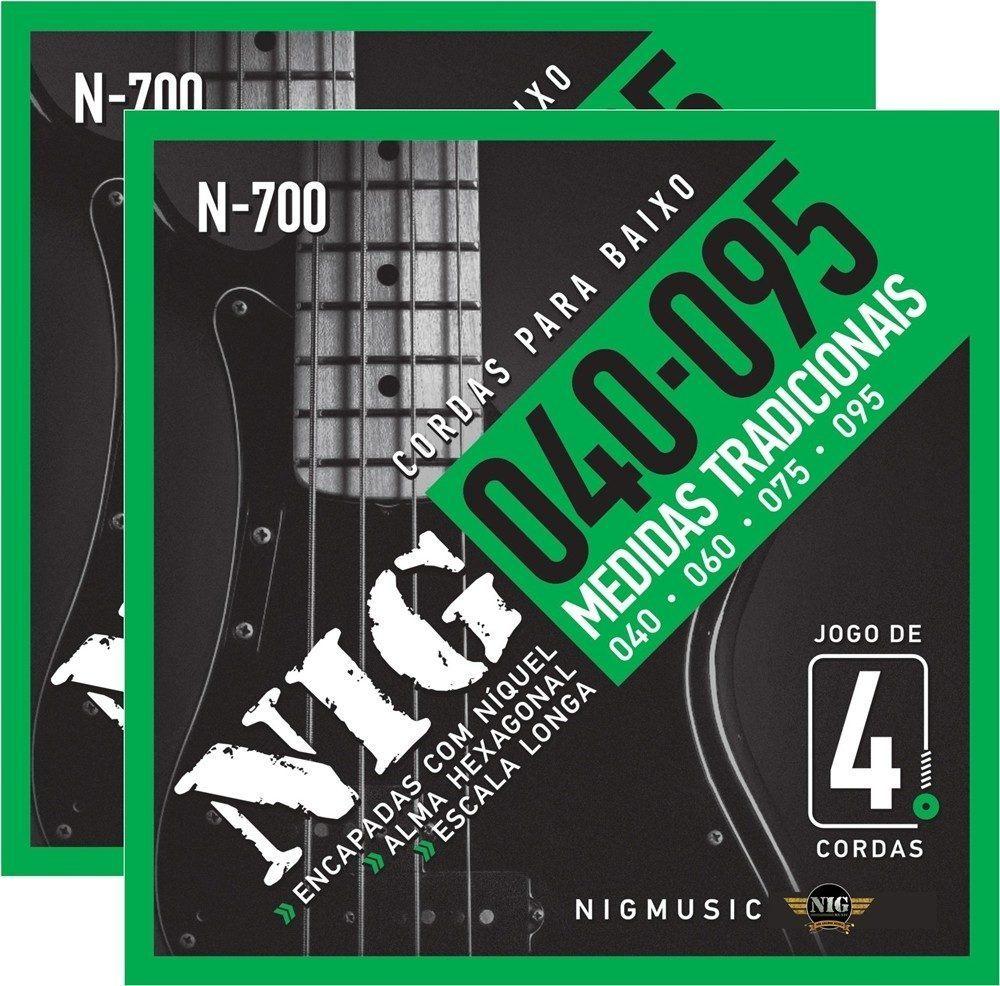 Encordoamento para contrabaixo NIG N-700 4 Cordas 040-095