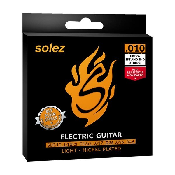 Encordoamento para guitarra Solez 010 SLG 10