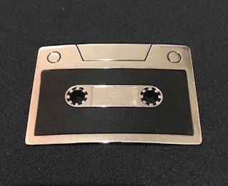 Fivela em metal para cinto unissex - Fita K7