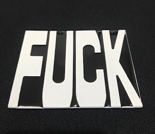Fivela em metal para cinto unissex - Fuck