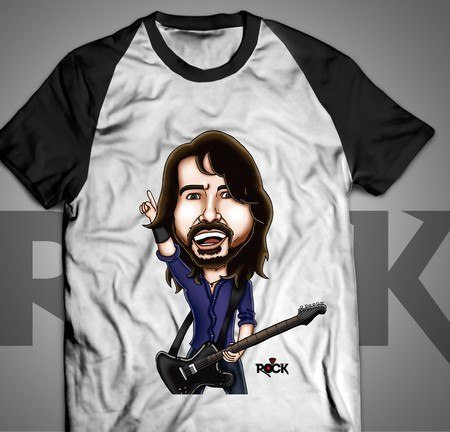 Camiseta Exclusiva Mitos do Rock Foo Fighters