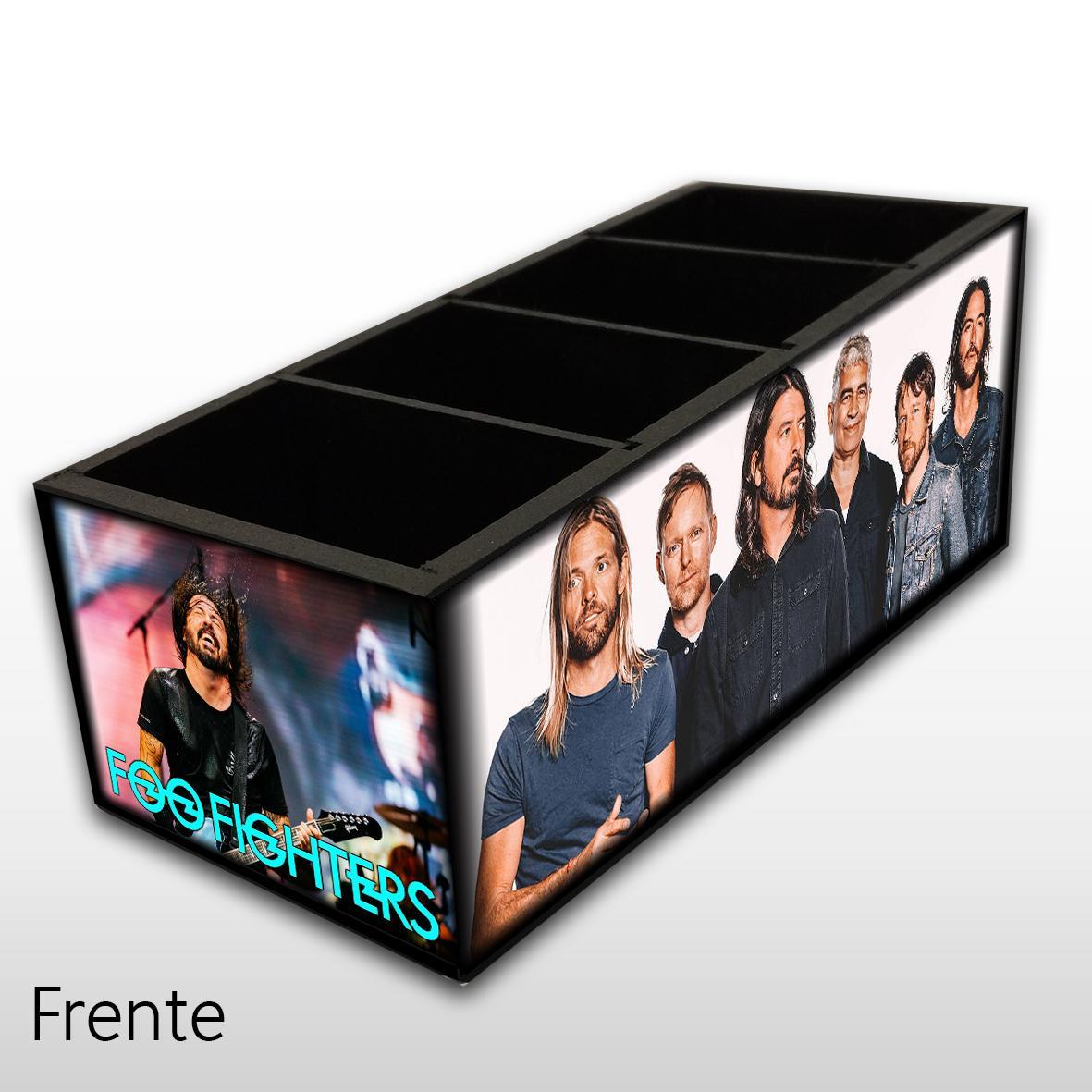 Foo Fighters - Porta Controles em Madeira MDF - 4 Espaços - Mr. Rock