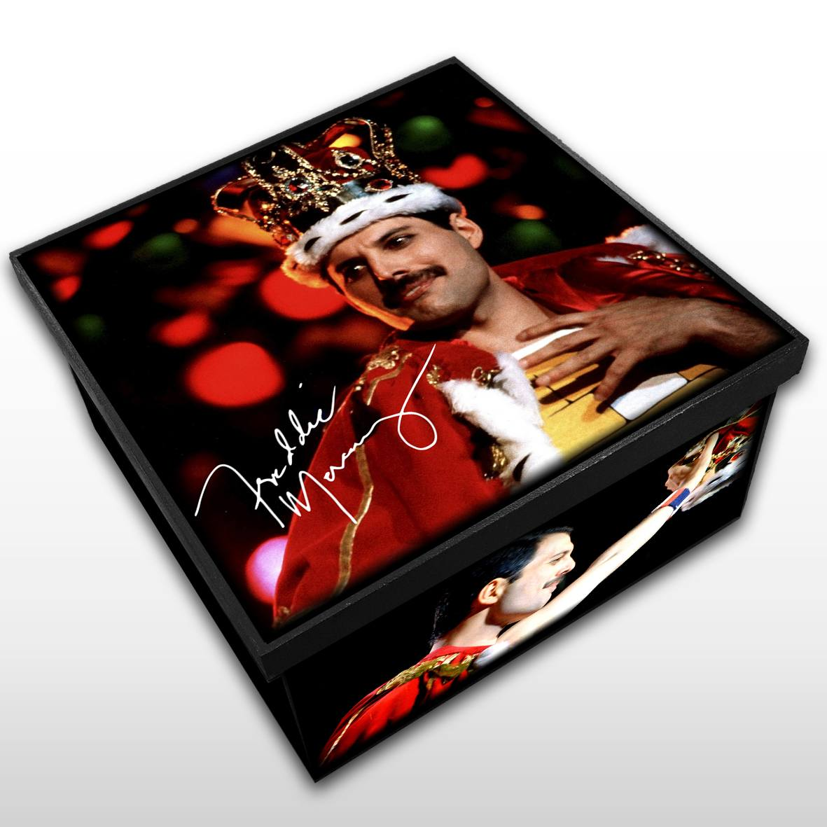 Freddie Mercury - Queen - Caixa em MDF - Tam. Médio - Mr. Rock