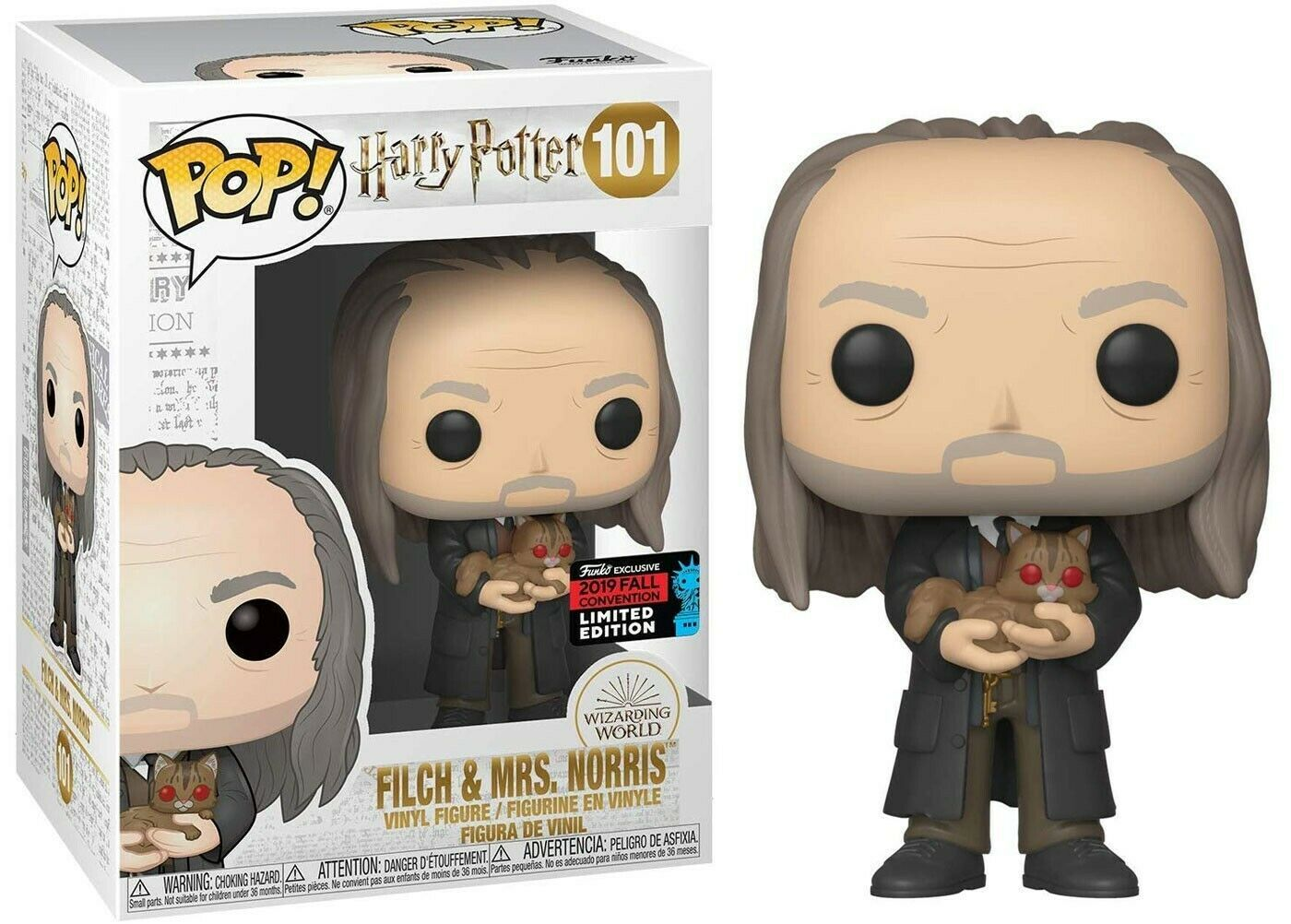 Funko Pop! - Filch & Mrs Norris - Harry Potter #101 Exclusivo Nycc 2019