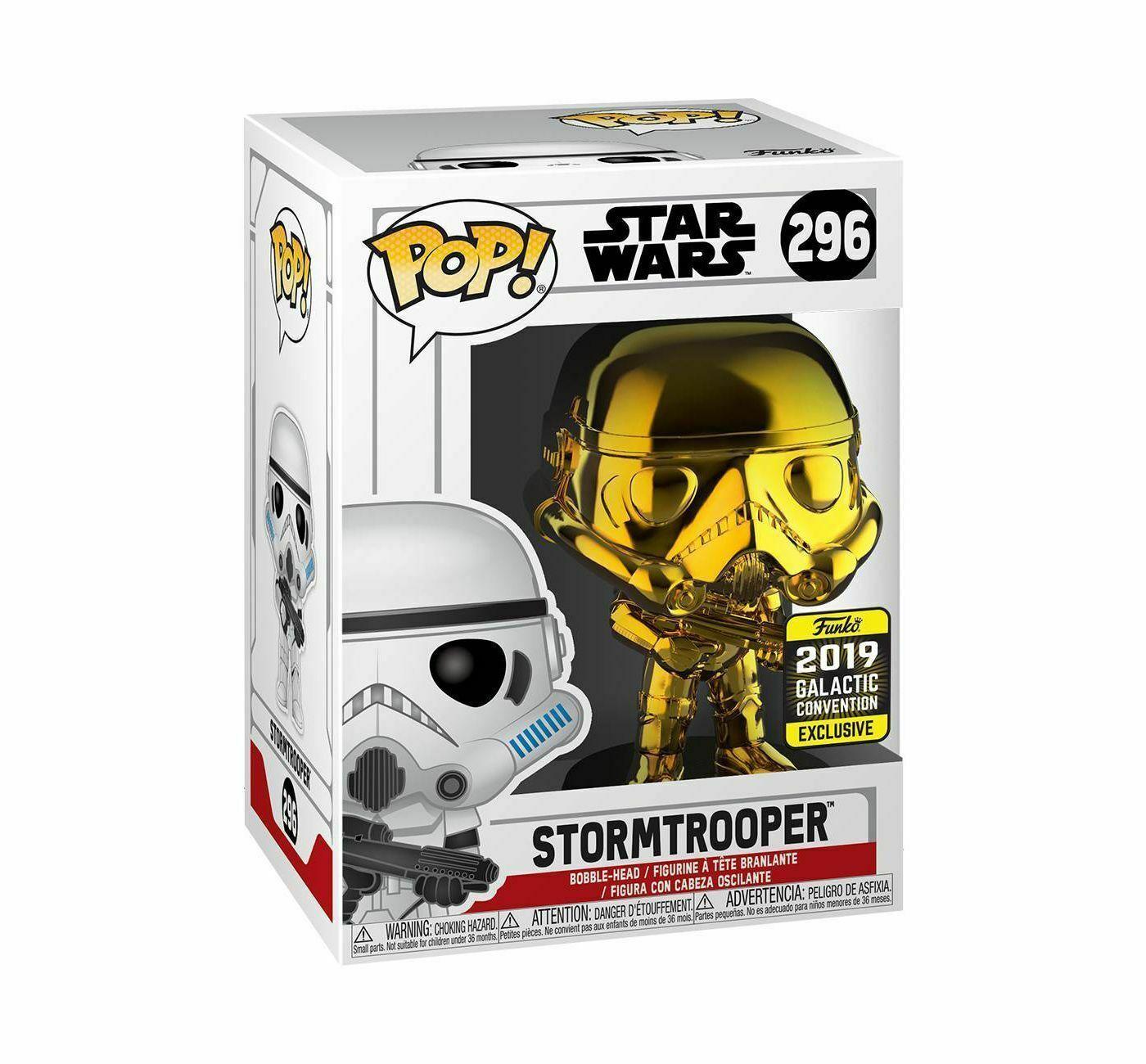 Funko Pop! Gold Chrome Stormtrooper Star Wars #296 Exclusivo Target