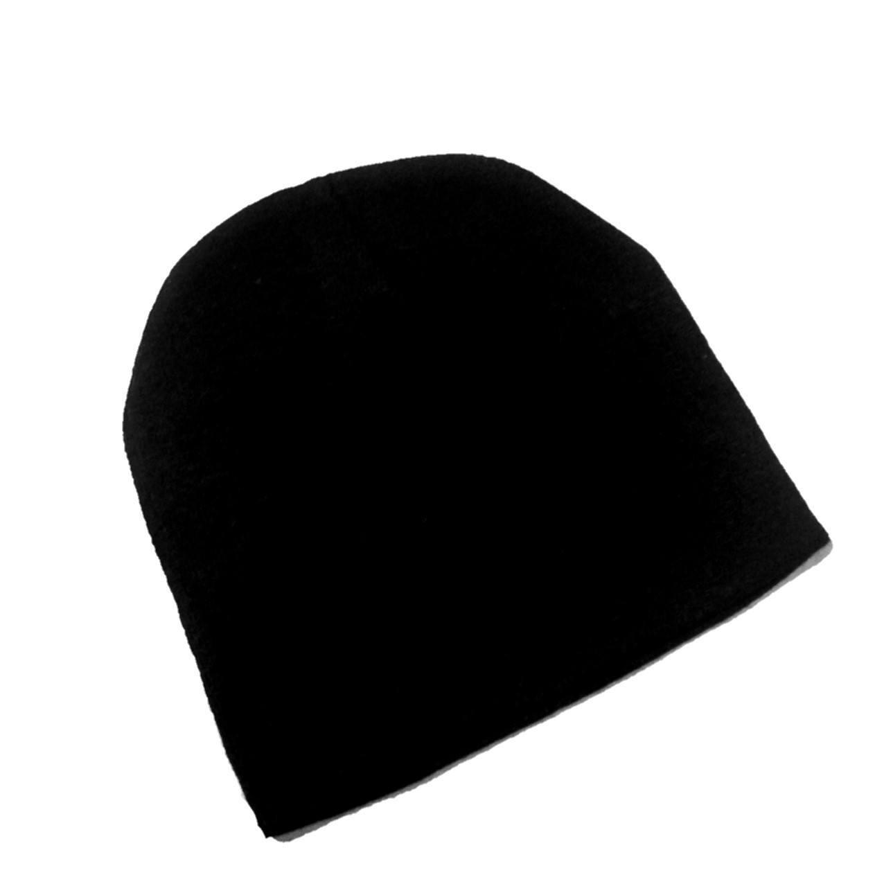 Gorro de lã unissex  liso preto