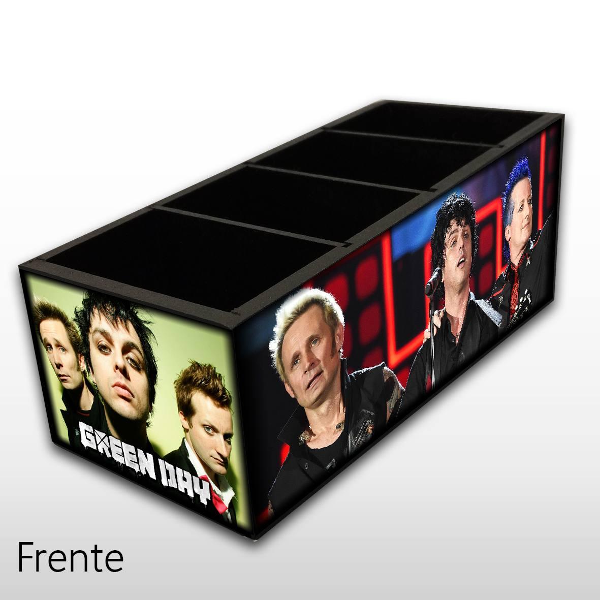 Green Day - Porta Controles em Madeira MDF - 4 Espaços - Mr. Rock