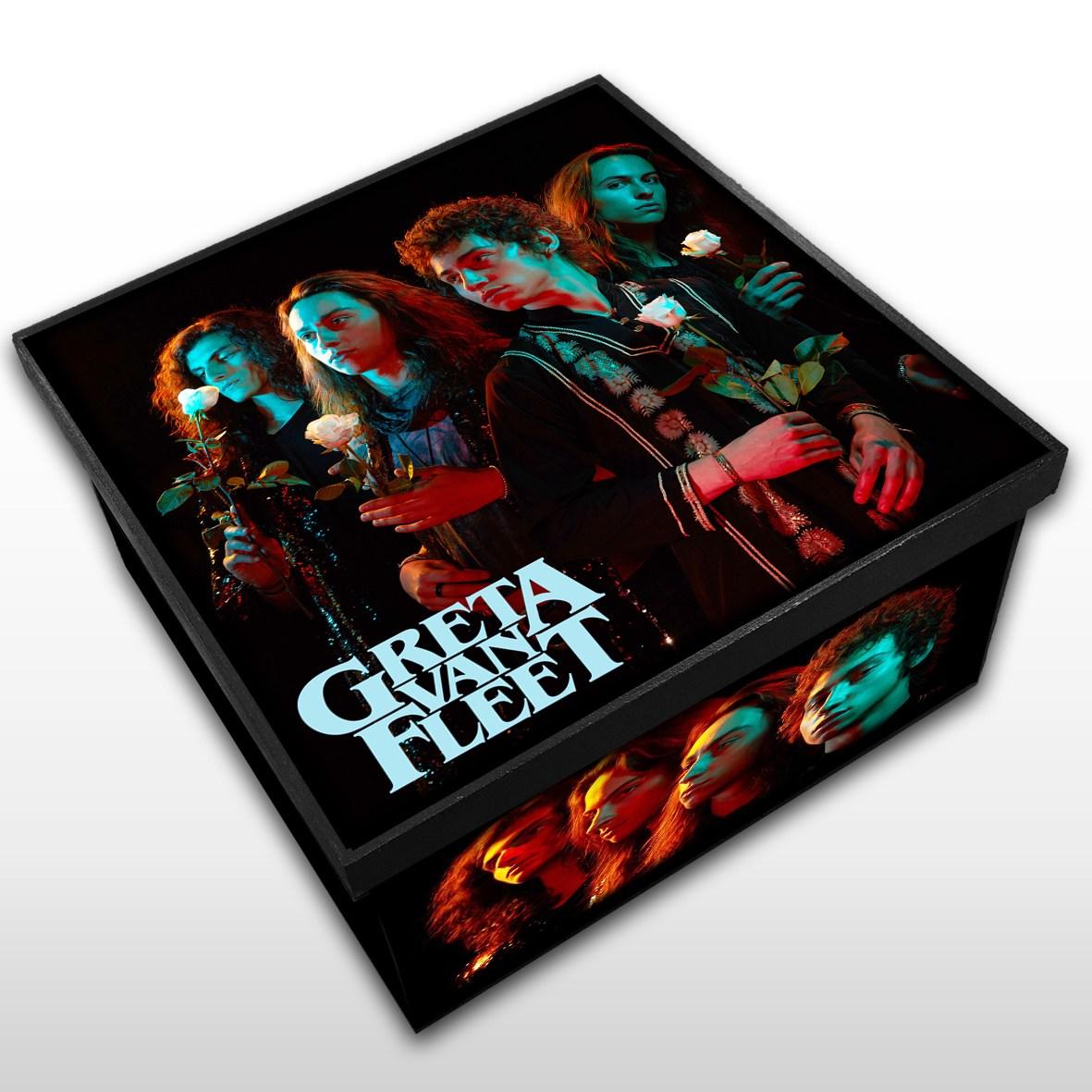 Greta Van Fleet - Caixa Organizadora em Madeira MDF - Tamanho Médio - Mr. Rock