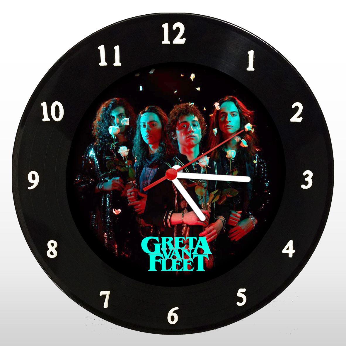 Greta Van Fleet - Relógio de Parede em Disco de Vinil - Mr. Rock