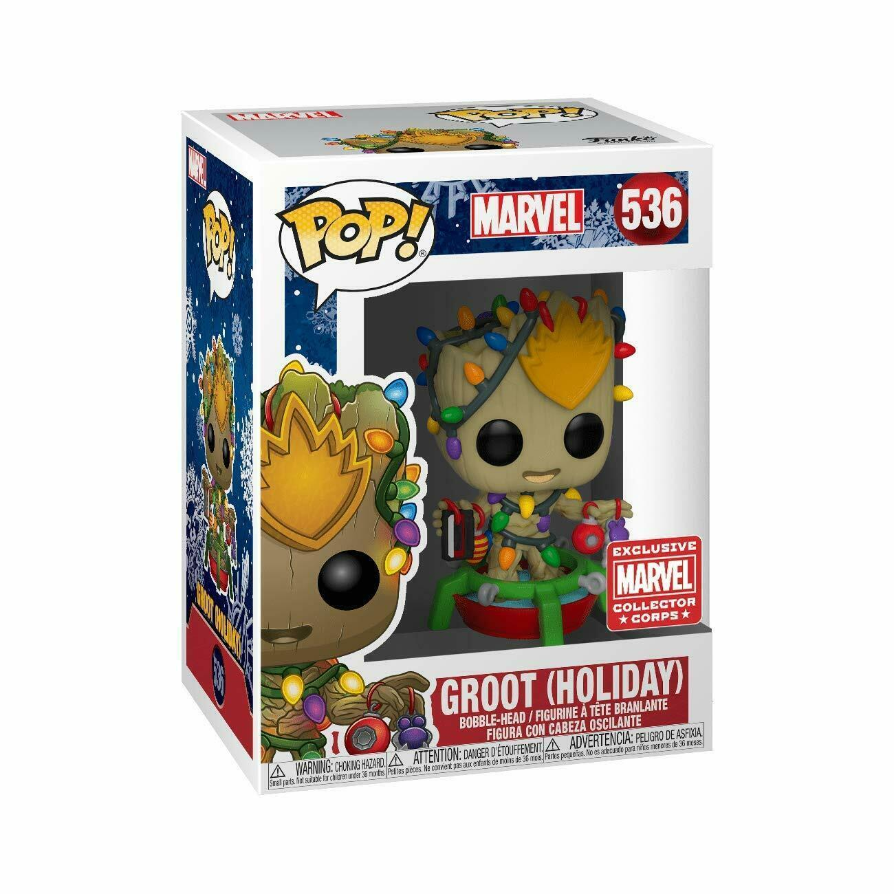 Groot Holiday - Marvel - Funko Pop #536 Exclusivo Collector Corps