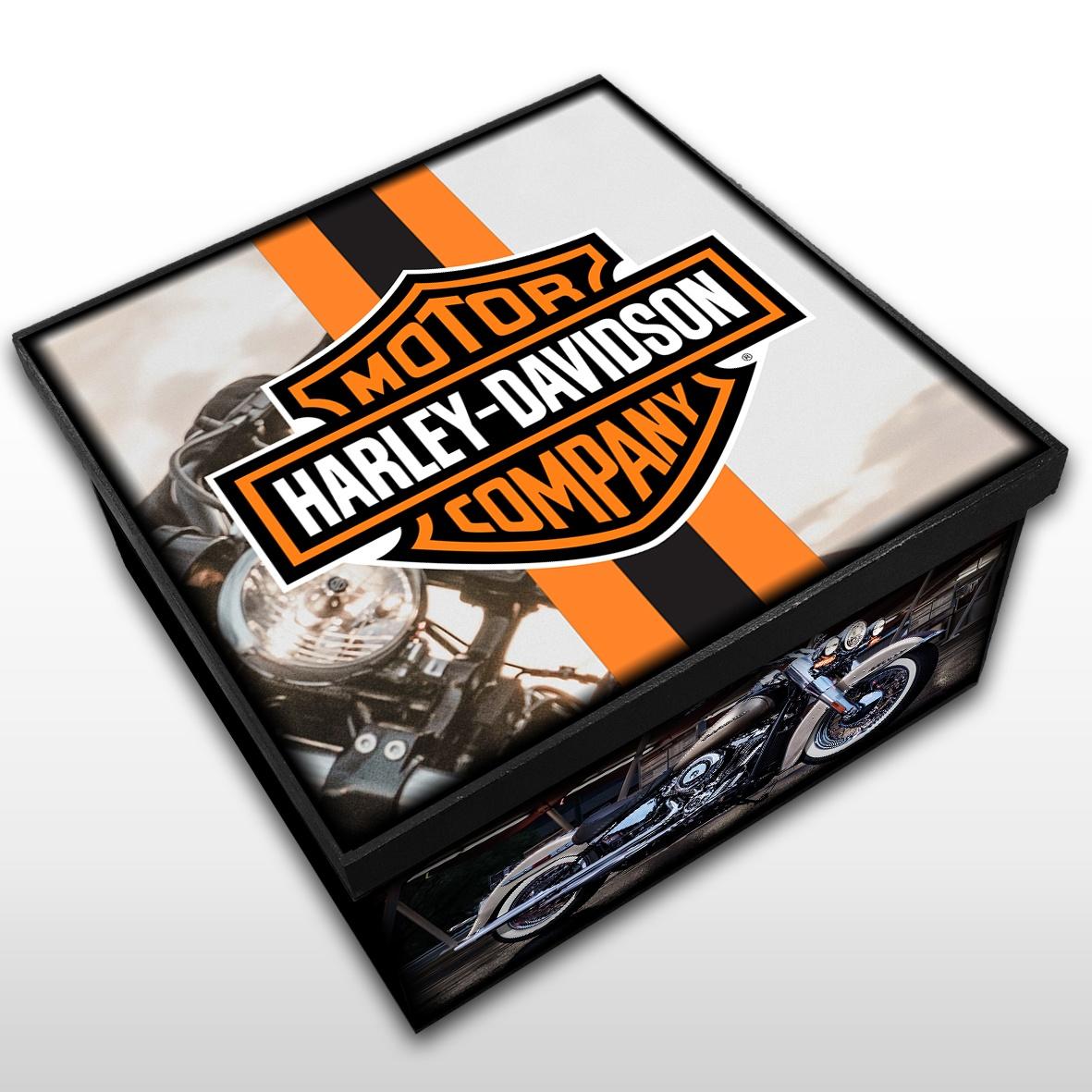 Harley Davidson - Caixa em MDF - Tam. Médio - Mr. Rock