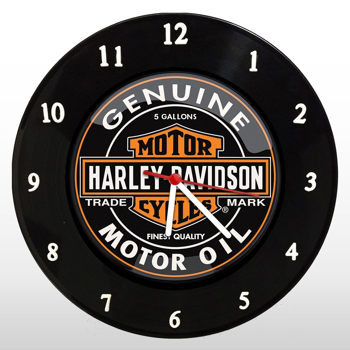 Harley Davidson - Relógio de Parede em Disco de Vinil - Mr. Rock
