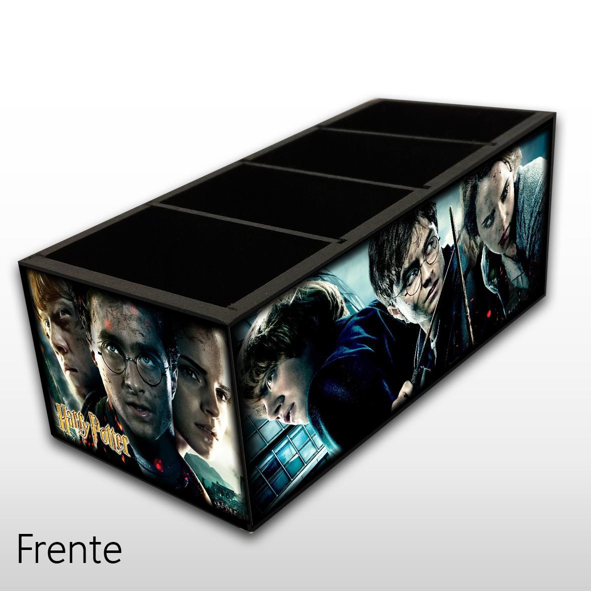 Harry Potter - Porta Controles em Madeira MDF - 4 Espaços - Mr. Rock