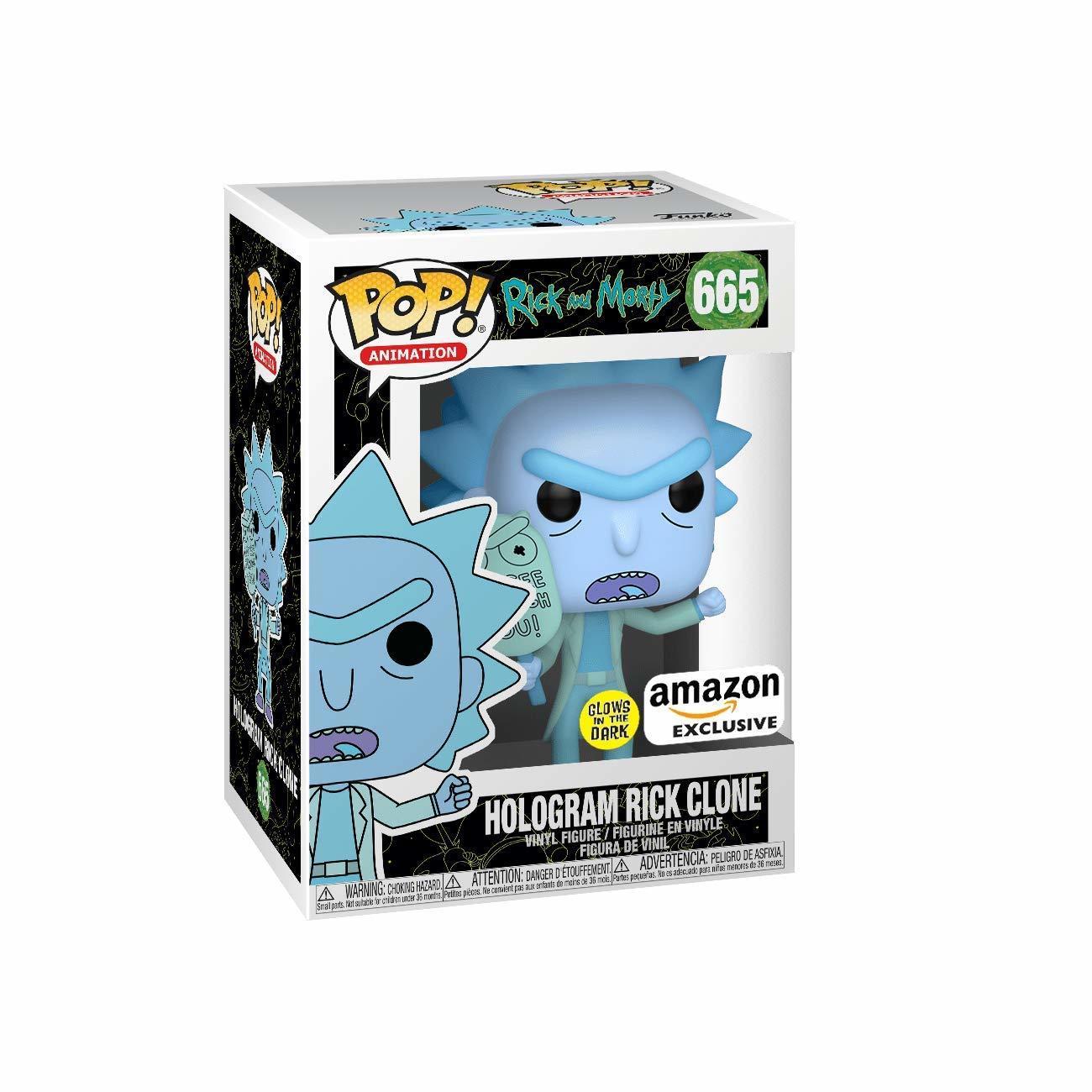 Hologram Rick Clone Gitd - Rick And Morty - Funko Pop! #665