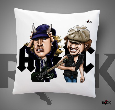 Almofadas com Enchimento Mitos do Rock AC/DC