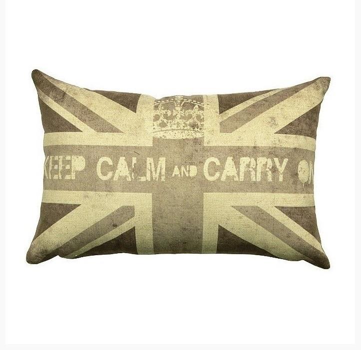 Almofada 30 Keep Calm UK P&B – Rvalentim