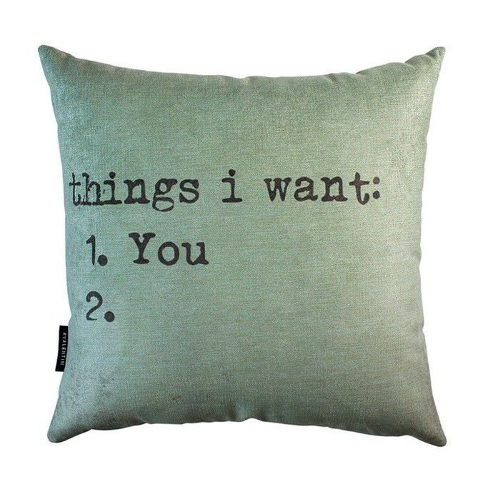 Almofada 45 Things I Want – Rvalentim