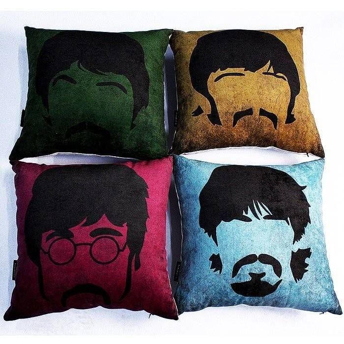 Kit Almofada Beatles 4 Peças – Rvalentim