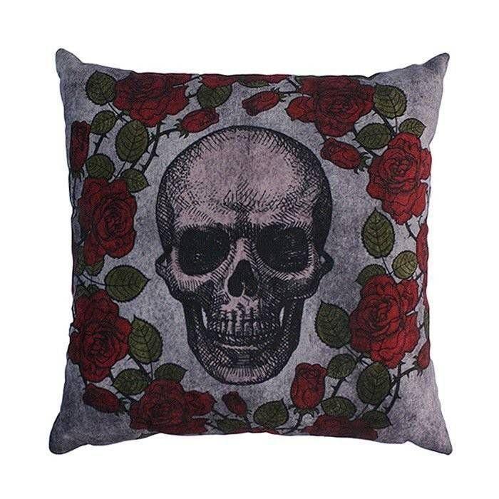 Almofada 45 Skull Roses – Rvalentim