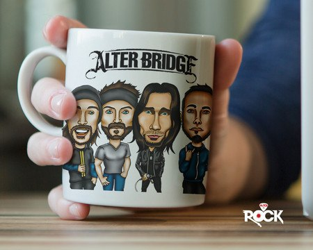 Caneca Exclusiva Mitos do Rock Alter Bridge