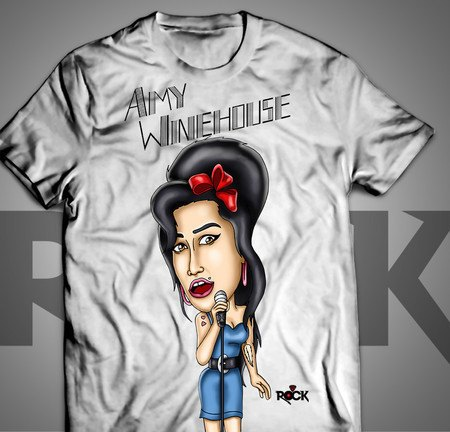 Camiseta Exclusiva Mitos do Rock Amy Winehouse II