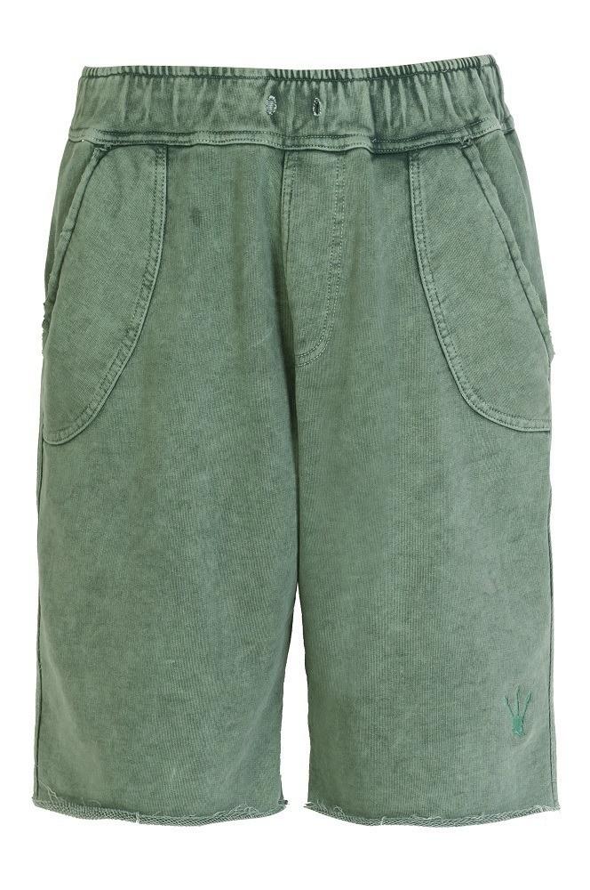Bermuda Marculina Doca Clothing Moletom Militar Verde