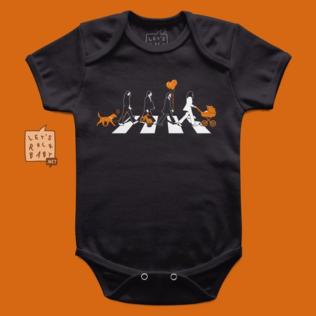 Body Infantil Let's Rock Baby Beatles Abbey Road Babás